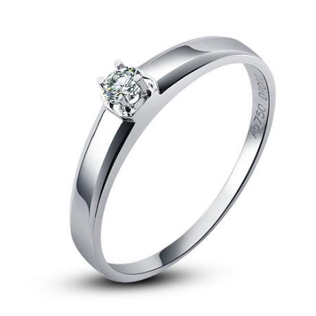 Fede nuziale classica - Fede donna - Oro bianco - Diamante