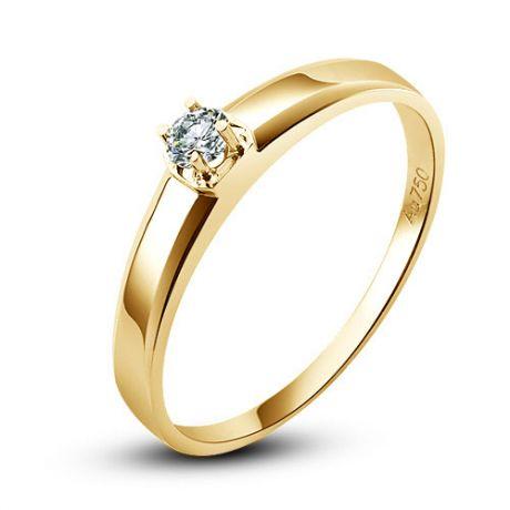 Fede nuziale classica - Fede Donna in Oro giallo e Diamante | Glenna