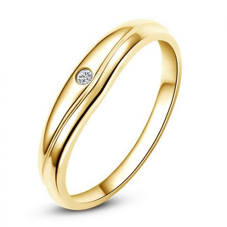Fede Donna - Oro giallo 2.43gr - Diamante 0.019ct