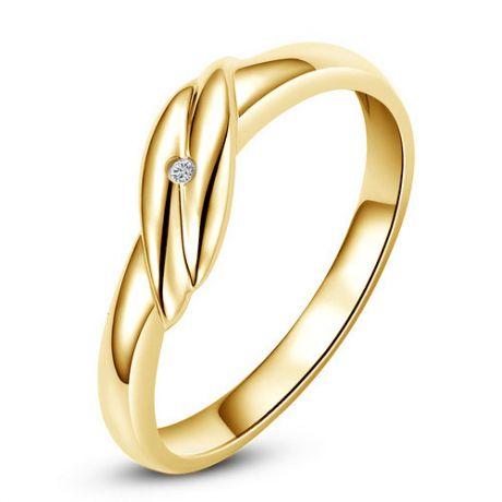 Fede Nuziale Donna Joyce - Oro giallo e Diamante