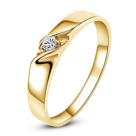 Fede Donna - Oro giallo 2.2gr - Diamante 0.024ct