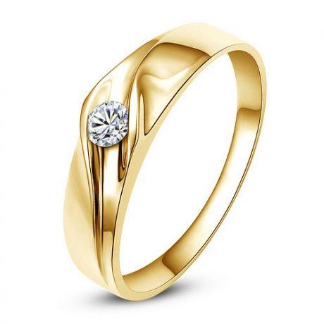 Fede Donna - Oro giallo 2.50gr - Diamante 0.050ct