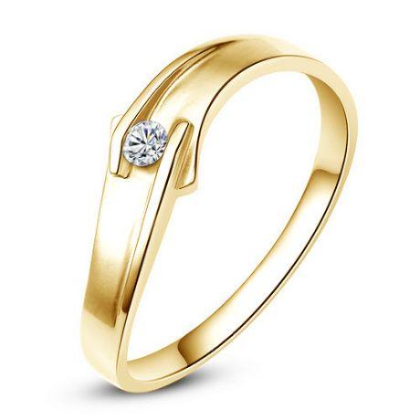 Fede Donna - Oro giallo 2.3gr - Diamante 0.03ct