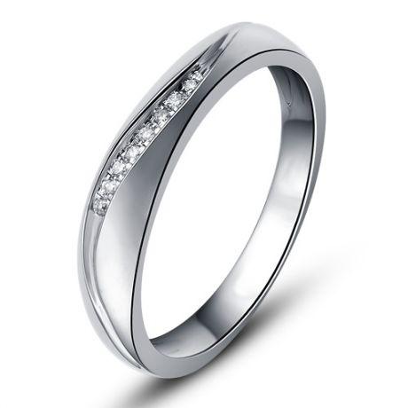Fede Donna - Oro bianco 2.60gr - Diamanti 0.029ct
