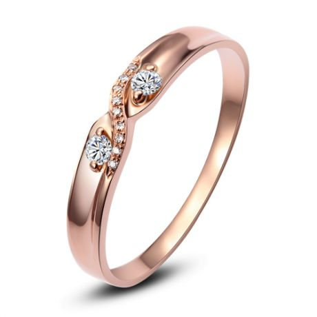 Alliance mariage diamants or rose Femme | Constance