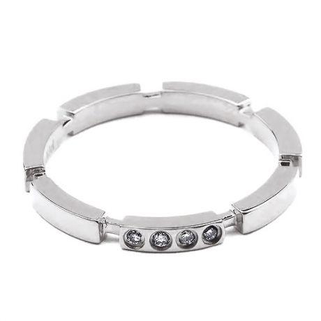 Alliance Anneau de Mariage - Alliance Femme Or Blanc et Diamants   Gemperles