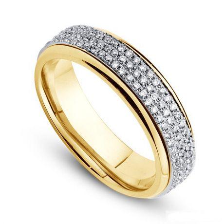 Joaillier alliance de fiançaille - Alliance Femme diamants et or jaune