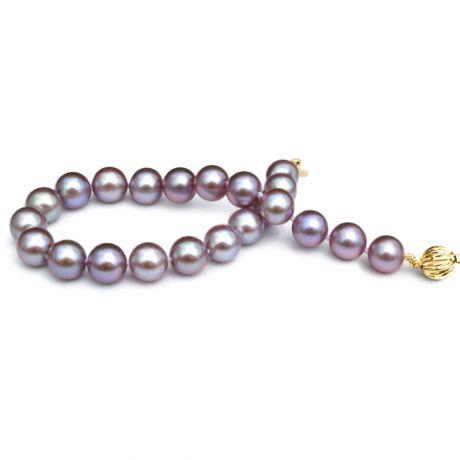 Bracelet en perles de culture - Perle lavande d'eau douce - 7.5/8mm