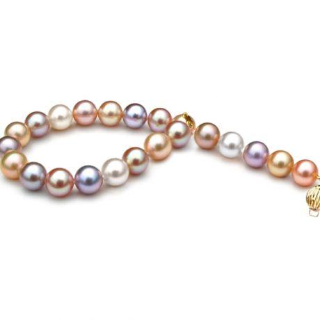 Bracelet perles multicolores - Bracelet perle d'eau douce - 7.5/8mm
