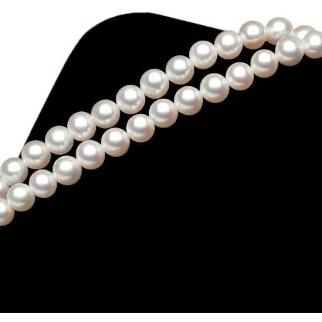 Bracelet double en perles Akoya - Perles 4.5/5mm - Culture du Japon