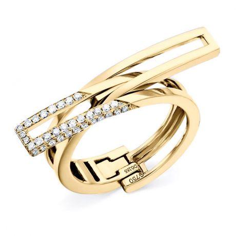 Bague anneau d'exception. Pendentif or jaune diamants forme cœur   Exception