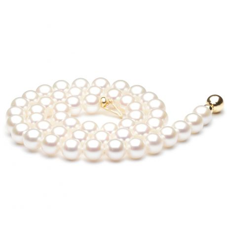 Collier perle mariage - Collier perles de Chine blanches - 7.5/8mm