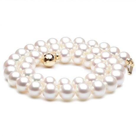Collier perles eau douce blanches - Perles de culture - 8.5/9.5mm AAA