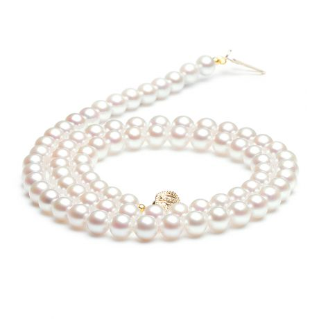 Collier perles de culture - Perle eau douce blanche - 5/5.5mm - AAA