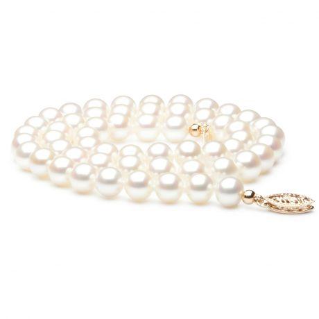 Collier mariage - Perle de culture d'eau douce blanche - 6.5/7mm