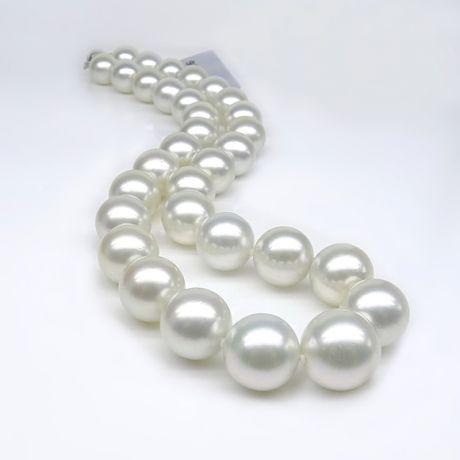 Collier grosses perles de culture australiennes blanches - 12/14.7mm