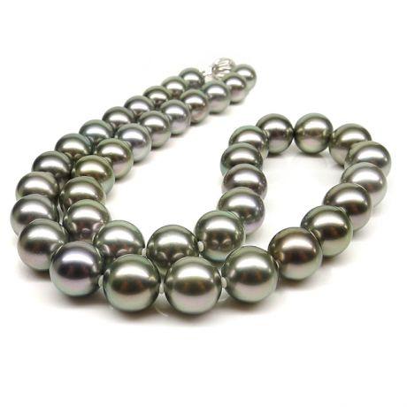 Collier en perles bronzes de Tahiti - 9/10.4mm, AAB