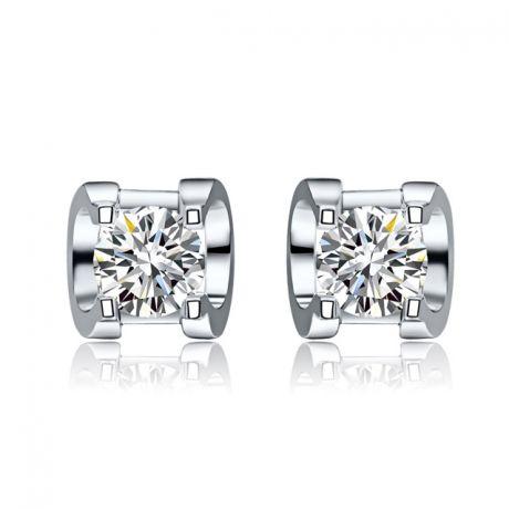 Orecchini Punto Luce. Oro Bianco e Diamanti