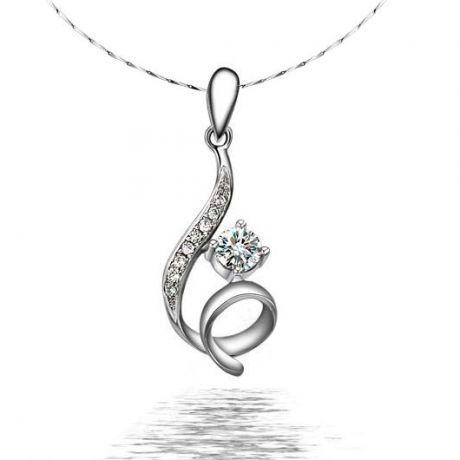 Pendentif byzantin entortillé - Or blanc, diamants 0.22ct