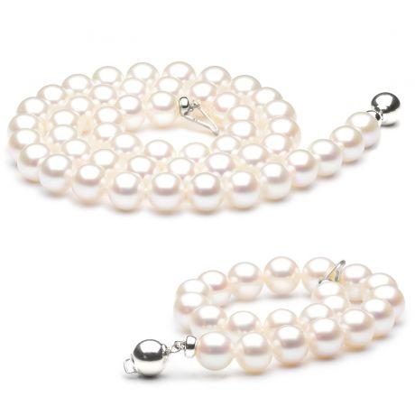 Parure bijoux pour mariage - Perles de culture - Fermoirs or blanc