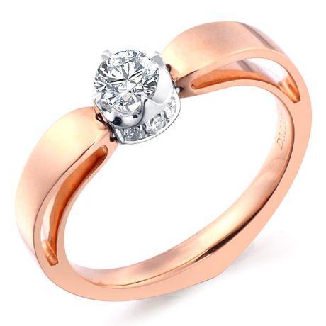 Anello di Fidanzamento Jefferson - Oro Rosa & Bianco, Diamante Solitario | Gemperles