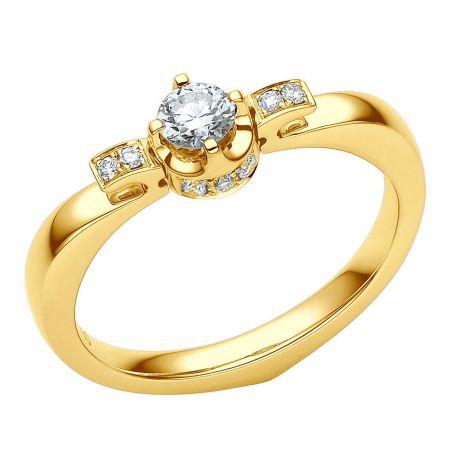 Anello Solitario di Fidanzamento Peterson - Oro Giallo & Diamanti | Gemperles