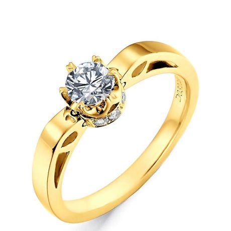 Bague Pendentif Delfino - Solitaire Or Jaune 18cts - Diamants VS/G | Gemperles