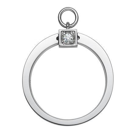 Solitaire pendentif - Bague de mariage en or blanc et diamants | Gemperles