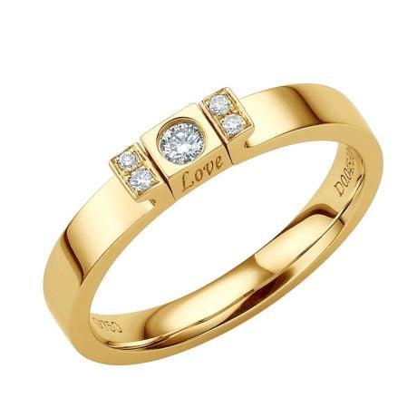 Solitaire pendentif Love - Or jaune, diamant | Love Passion