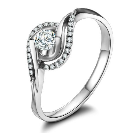 Bague Or Blanc Clarisse - Diamants 0.25 carat - Chateaubriand | Gemperles