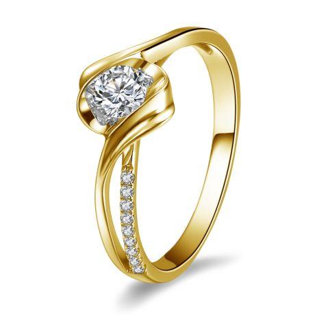 Anello di Fidanzamento Poesia di Diamanti - Oro Giallo e Diamanti | Gemperles