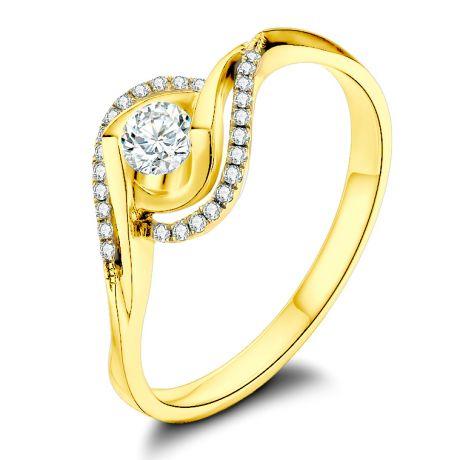 Bague Or Jaune Clarisse - Diamants 0.25 carat - Chateaubriand | Gemperles
