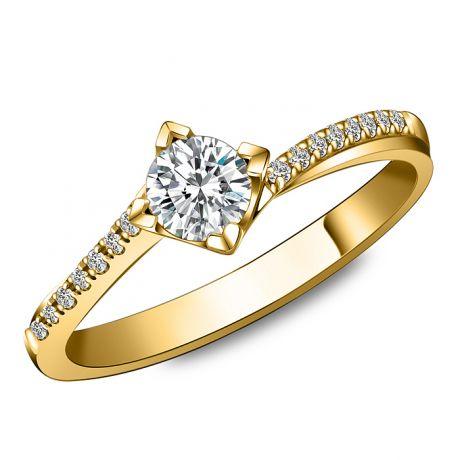Anello di Fidanzamento Pericle -  Oro Giallo & Diamanti | Gemperles