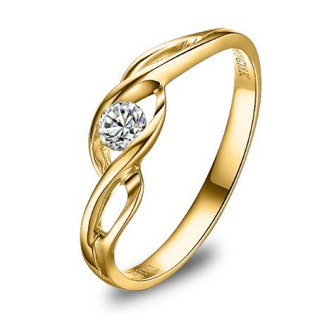 Solitaire Taylor - Diamant Maille Croisée - Or Jaune | Gemperles