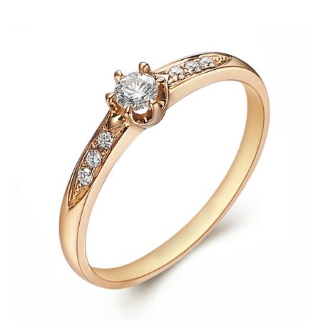 Alliance Solitaire Accompagné Diamants. Or Jaune | Gemperles