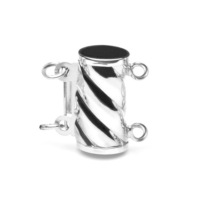 Cylindre or blanc 14ct-25