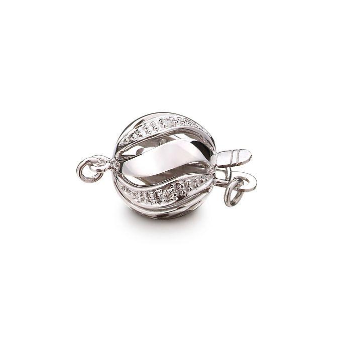 Melograna : Fermoir de luxe Or blanc 18 carats & Diamants sertis