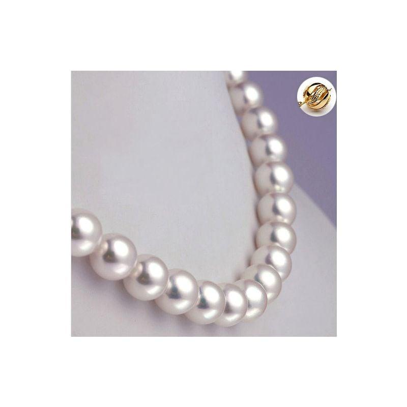 Collier perles fines Akoya - Haute joaillerie - Perle Japon - 8.5/9mm