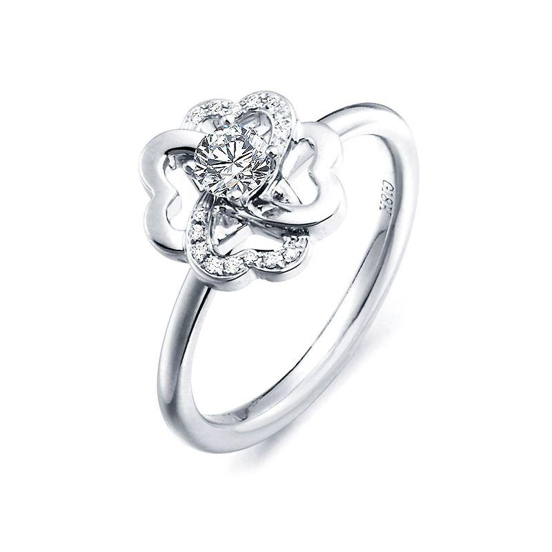 Bague Fleur de Stendhal - Bague de Mariage & Fiançaille - Or Blanc, Diamants   Gemperles
