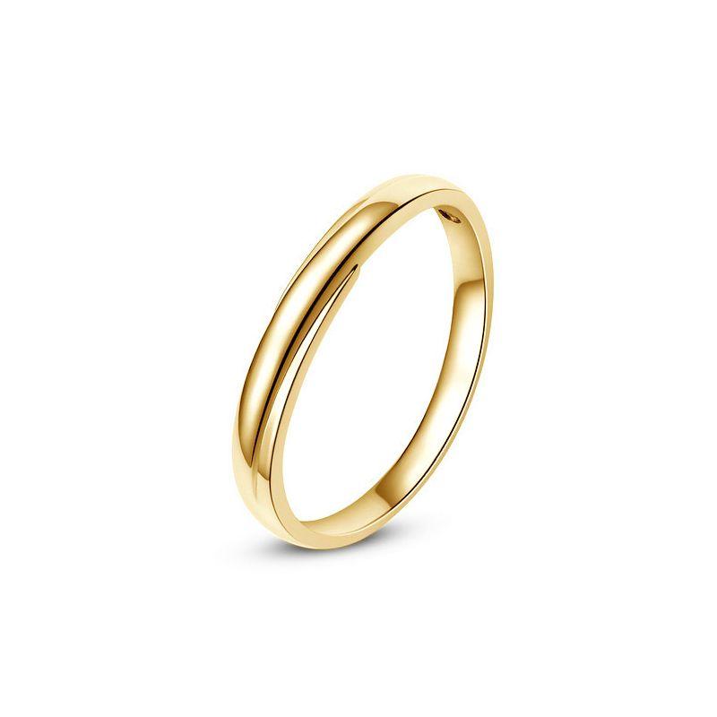 Alliance bijou mariage - Alliance Homme - Or jaune 18cts - Diamant