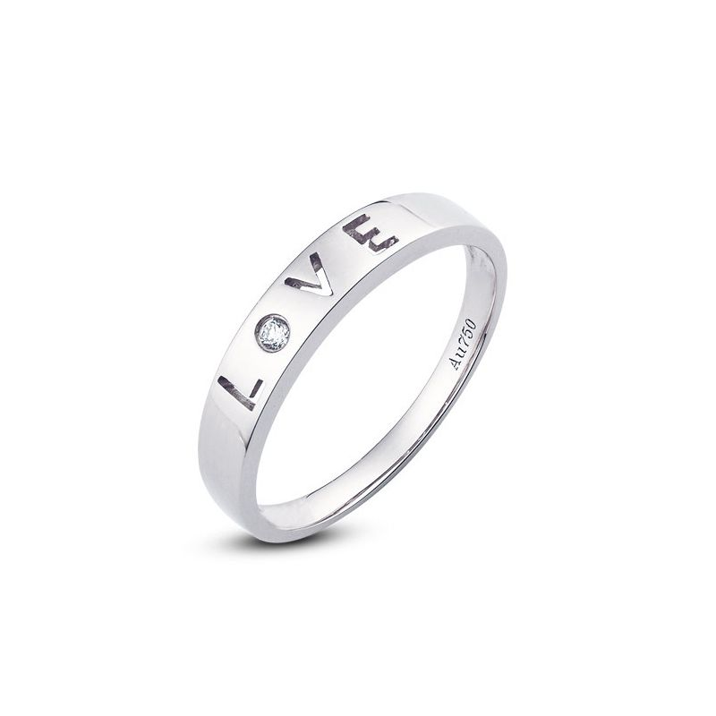 Alliance Love - Alliance femme platine - Diamant