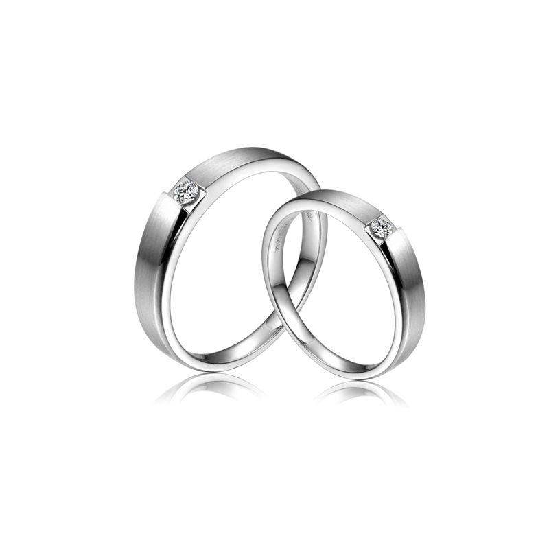 Alliances de fiançailles 2012 - Alliances Duo - Or blanc, diamants